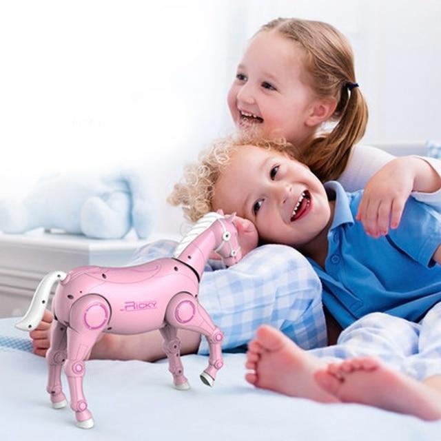 2020 جديد RC الذكية روبوت الحيوان الحصان الروبوت الذكية لعبة للأطفال مع الرقص والغناء RC الذكية لعب الاطفال هدية 5