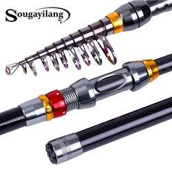Sougayilang Spinning wędka drążek teleskopowy 1.8 m 3.6 m wędka z włókna węglowego wysoka słonowodna wędka castingowa Pesca|Wędki|Sport i rozrywka -