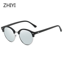 Vintage Round Sunglasses Brand Polarized Fashion Shade Glasses Men Women HD Oculos de sol Car Driving Glasses UV400 цена 2017