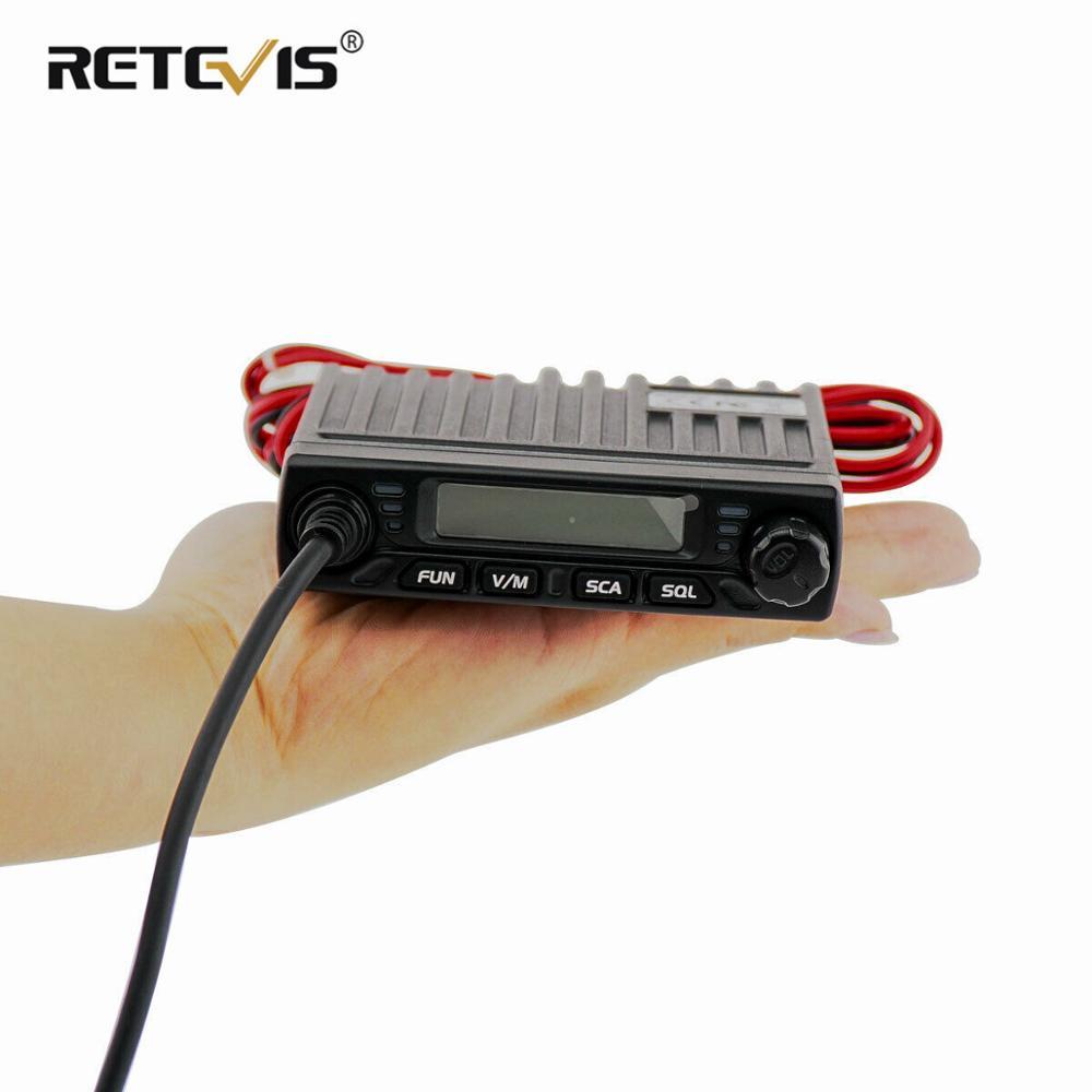 Mini Mobile Radio RETEVIS RT98 UHF ( or VHF ) 15W 199CH Car Walkie Talkie Ham Radio LCD Car Radio Transceiver with Speaker Mic(China)