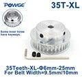 POWGE 35 зубьев XL зубчатый шкив Диаметр 6/6. 35/7/8/10/12/17/19/20/25 мм для ширины 9 5 мм XL синхронный ремень 35-xl-037 BF 35 зубьев 35 T