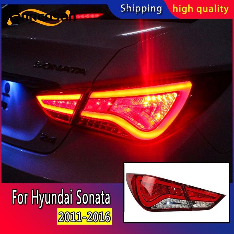 Style de voiture pour Hyundai Sonata feux arrière 2011-2016 Sonata YF feu arrière LED DRL Signal frein arrière accessoires auto