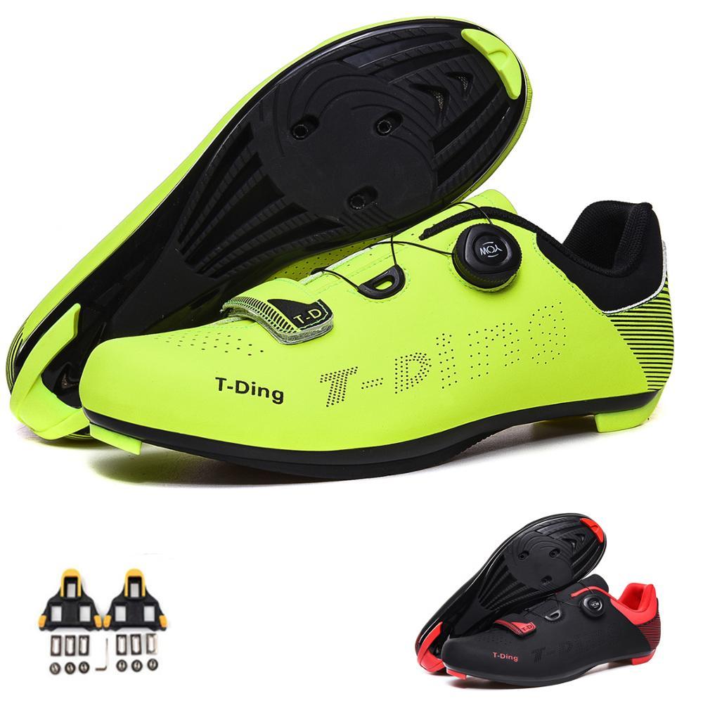 Sapatos de Bicicleta Sapatos de Ciclismo de Montanha Botas de Tornozelo Women Auto-bloqueio Alto Triathlon Eu35-47 Men Mtb
