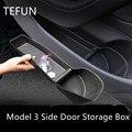 Дверной органайзер для хранения Tesla Model 3 Y, лоток из ТПЭ, водонепроницаемые аксессуары для модификации интерьера, украшение