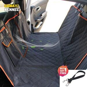 Image 2 - Cão vista do carro malha à prova dwaterproof água pet carrier fileira traseira do carro almofada do assento traseiro rede com zíper e bolso respirável almofada gato