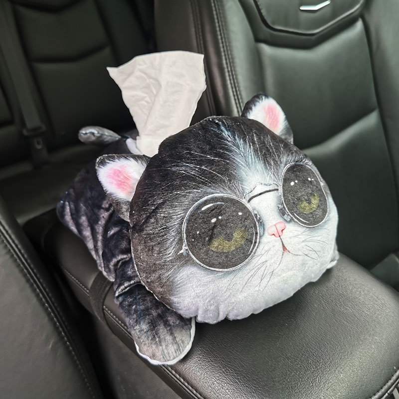 1 pçs criativo dos desenhos animados caixa de tecido animal motores gerais peças decoração interior guardanapo caixa de tecido para assento de carro