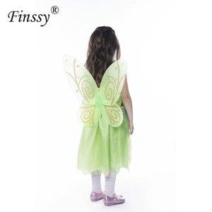 Image 2 - 나비 꽃 요정 코스프레 의상 소녀 할로윈 카니발 축제 파티 성능 드레스 날개 Garlands 포함
