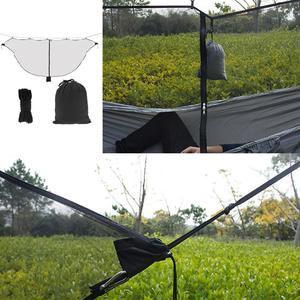 Сверхлегкий портативный гамак для путешествий, нейлоновая противомоскитная сетка Простая установка, противомоскитная сетка