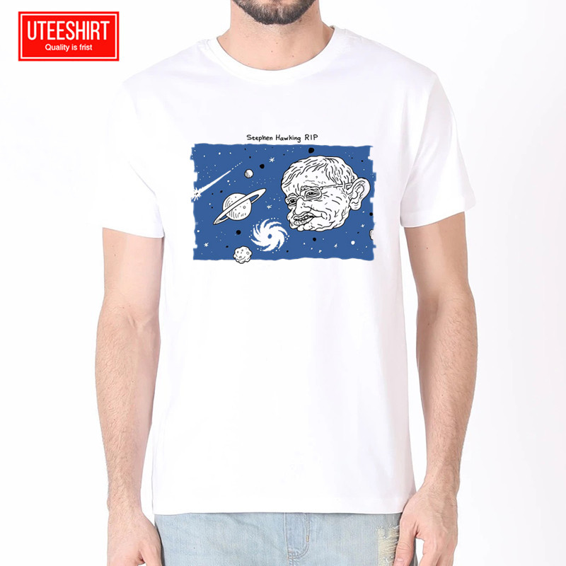 Men Stephen Hawking Formal Quotes Intelligence Women Harajuku T shirt Unisex Skateboard Tshirt Clothes Streewear