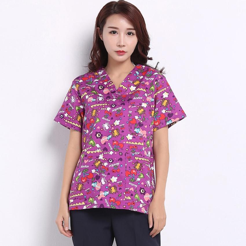 High Quality Mediecal Uniform 2018 News Surgical Cap Lab Coat Clinical Uniforms Woman Nurse Scrub Men Medical Costume Cartoon