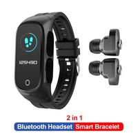 Reloj inteligente N8 TWS para hombre y mujer, dispositivo deportivo con auriculares, Bluetooth, llamadas, Monitor del sueño, inalámbricos con Bluetooth Auriculares, nuevo, 2020