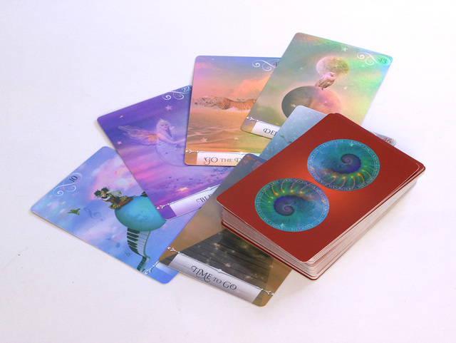New arrival shine knowledge oracle cards deck, 52 cards, Holographic wisdom tarot cards divination fate for women board games 3