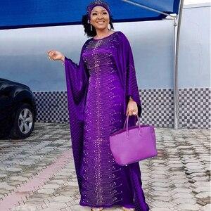 New african dresses for women dashiki vetement femme 2019 robe africaine bazin riche ankara plus size dress african head scarf(China)