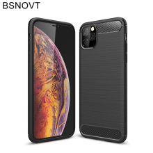 For iPhone 11 Pro Max Case Soft Silicone Dirt-resistant Back Apple Cover 6.5
