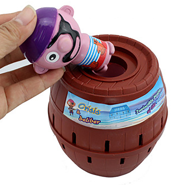 Funny Novelty Kids Children Funny Lucky Game Gadget Jokes Tricky Pirate Barrel Game NTDIZ1040 6