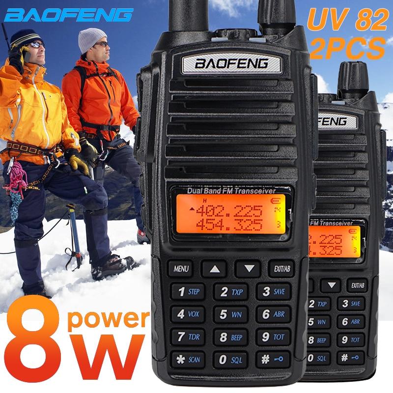 True 8W Baofeng UV82 Walkie Talkie UV 82 Dual Band Hunting Ham CB Radio Uv-82HP VHF UHF HF Transceiver Two Way Radio FM Radios