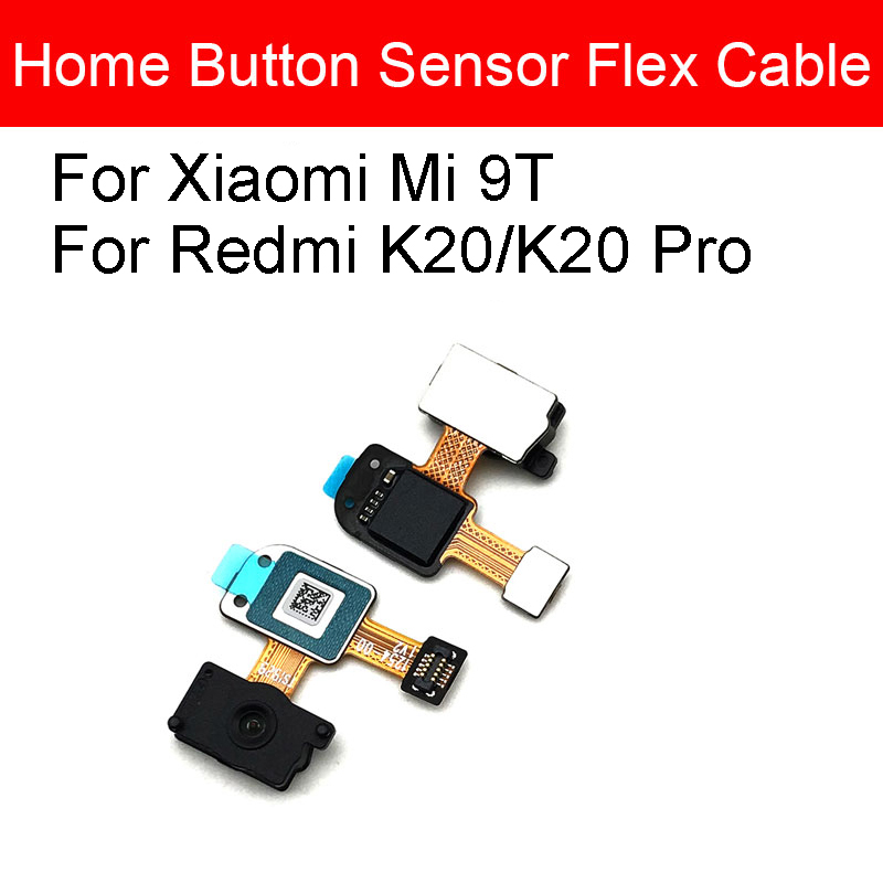Home Button Fingerprint Flex Cable For Xiaomi Redmi K20/K20 Pro/Mi 9T Menu Return Key Recognition Sensor Flex Cable Repair Parts