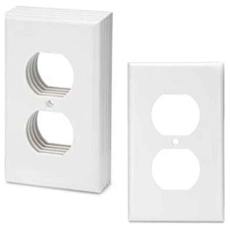 White Socket Cover, Wall Plate, 12 Per Pack, Power Socket Cover, Socket Wall, Power Socket Cover