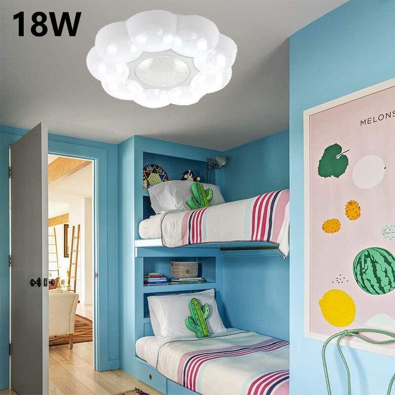 Светодиодный потолочный светильник с милыми цветами, акриловая Современная светильник ПА для мальчиков и девочек, для спальни, детской ком...