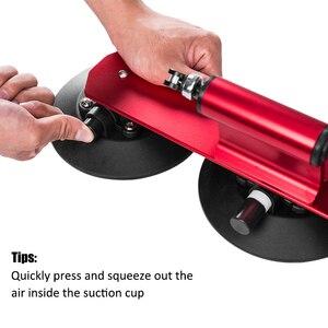 Image 4 - Rockbros carro telhado superior sucção transportadora rack de bicicleta para montanha mtb estrada bicicleta hub rápida instalar vácuo chuck fixação acessório
