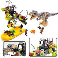 2019 neue legoinglys Jurassic Welt Film Dinosaurier Tyrannosaurus T. rex Vs Dino-mech Schlacht Transport Bausteine 75938 Spielzeug