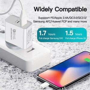 Image 2 - 36W podwójna ładowarka USB szybkie ładowanie 3.0 typ C PD szybkie ładowanie dla iPhone 12 11 Xiaomi USB C ładowarka QC3.0 ładowarka do telefonu