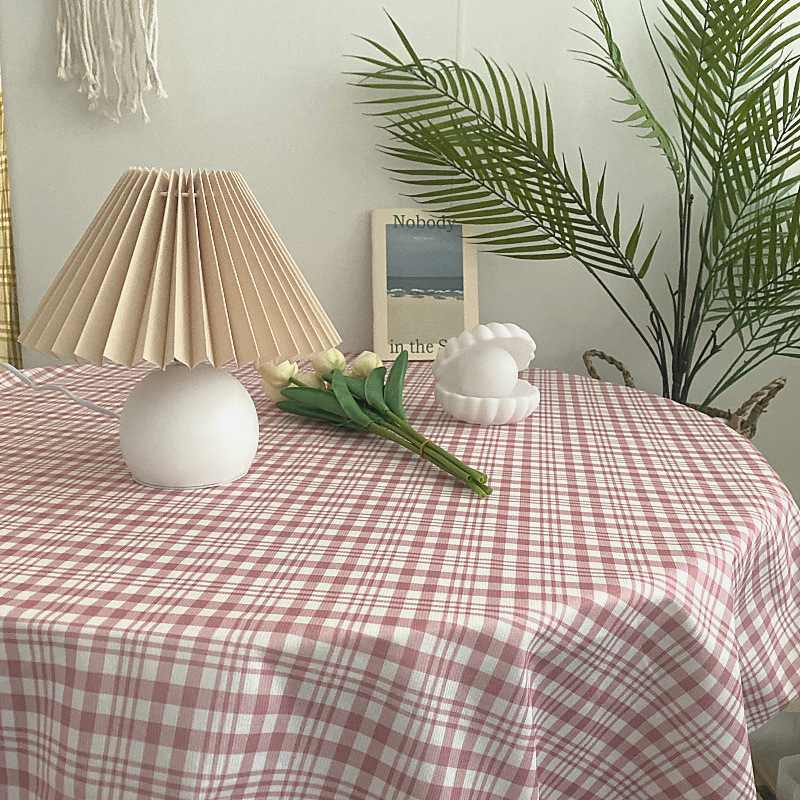 Multifunctional Photography Background Cloth Decoration Waterproof Korean Fresh Lattice Home Kitchen Tablecloth Outdoor Supplies