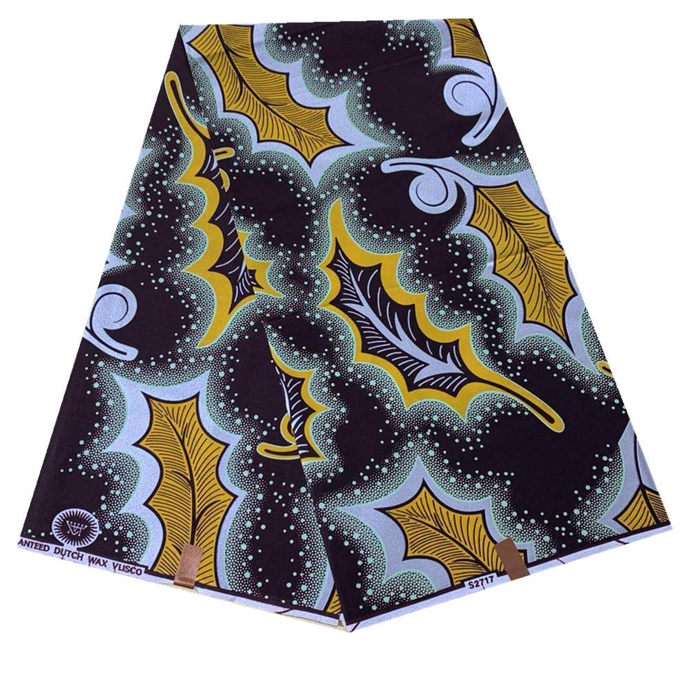 Анкара Африканского воска полиэстер набивные ткани лучшее качество оригинальные 6 Ярд банкетный платье Африканский ткань