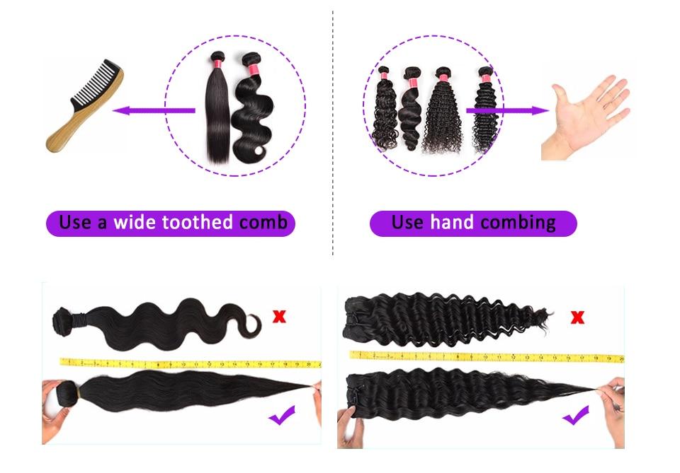 Pacotes de cabelo em linha reta com