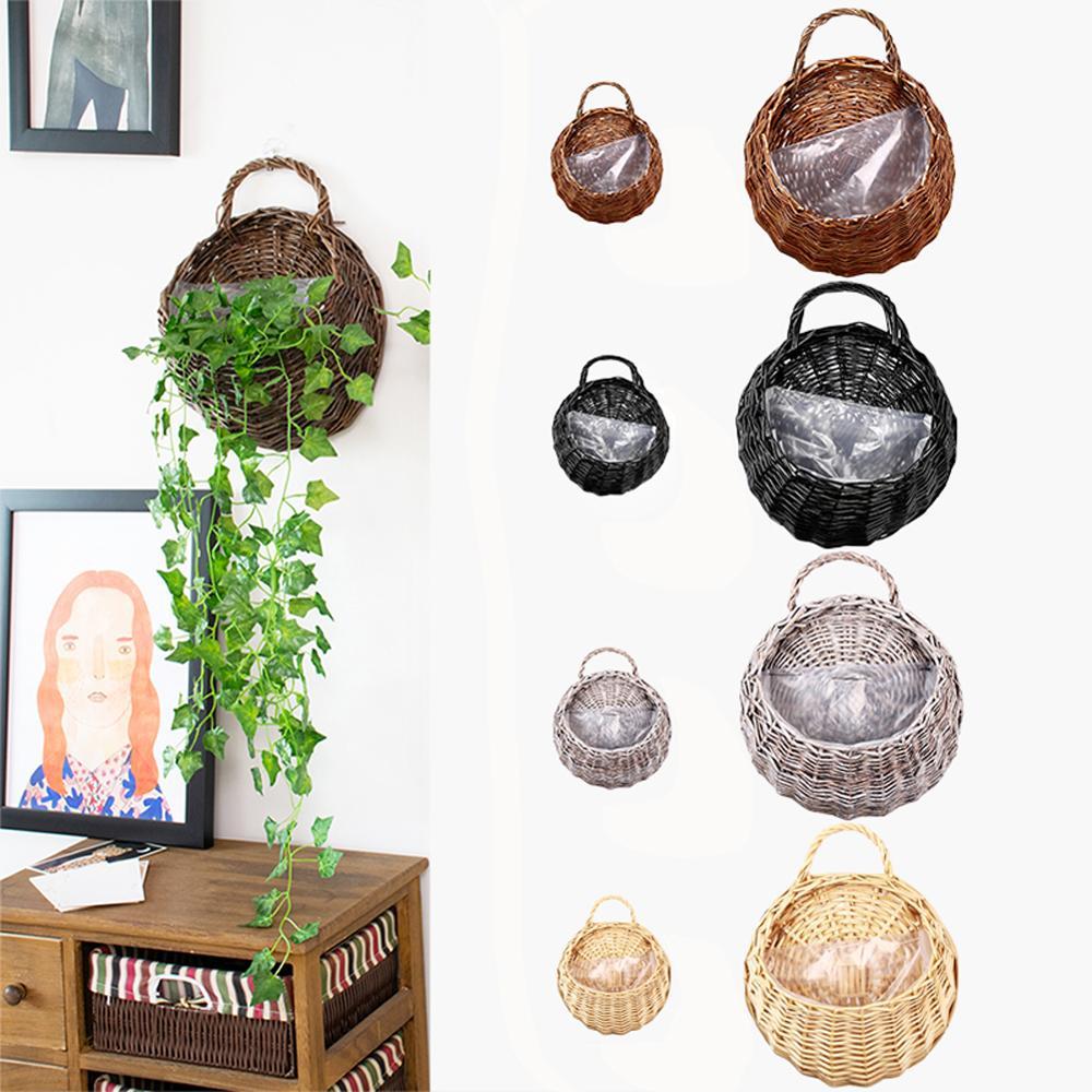 Willow Flower Basket Horticultural Wall Decoration Hanging Basket Wall Hanging (OPP Bag) 40FP04