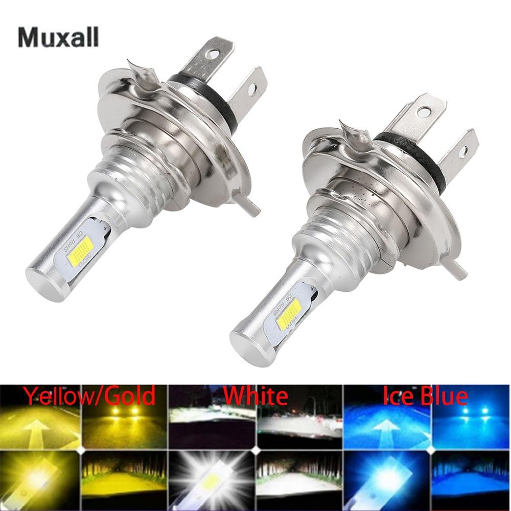 2pcs Mini Size H4 H7 LED H1 H11 H8 H9 HB4 LED Canbus Headlight Bulbs Car Fog Light Lamp Fog Lights 8