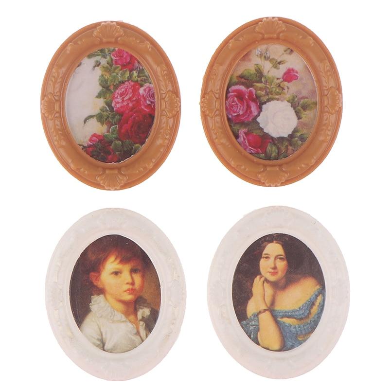 1:12 Dollhouse Miniature Mini Photo Frame Model Furniture Decorative Accessories