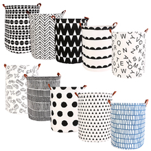 1pc Folding Laundry Basket Round Storage Bin Large Hamper Collapsible Clothes Underwear Toy Holder Organizer EcoFriendly