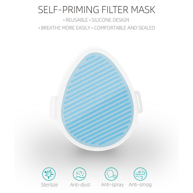 #H40 Electric Mask Respirator Air Purifying Dustproof Mask Haze PM2.5 Face Mouth Mask Care Mouth-muffle bacteria proof Flu 1