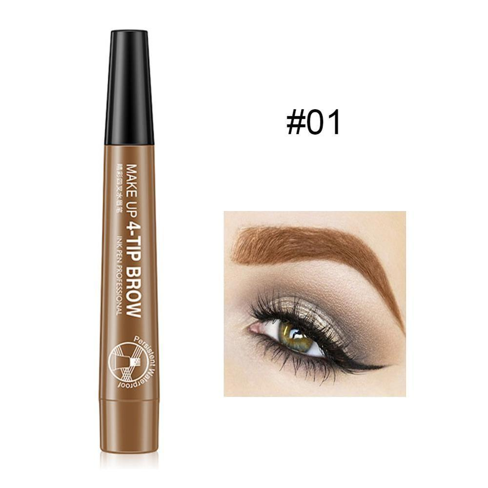 Color Nana Eye Color Four-fork Water Eyebrow Pencil Lasting Waterproof And Sweat-proof