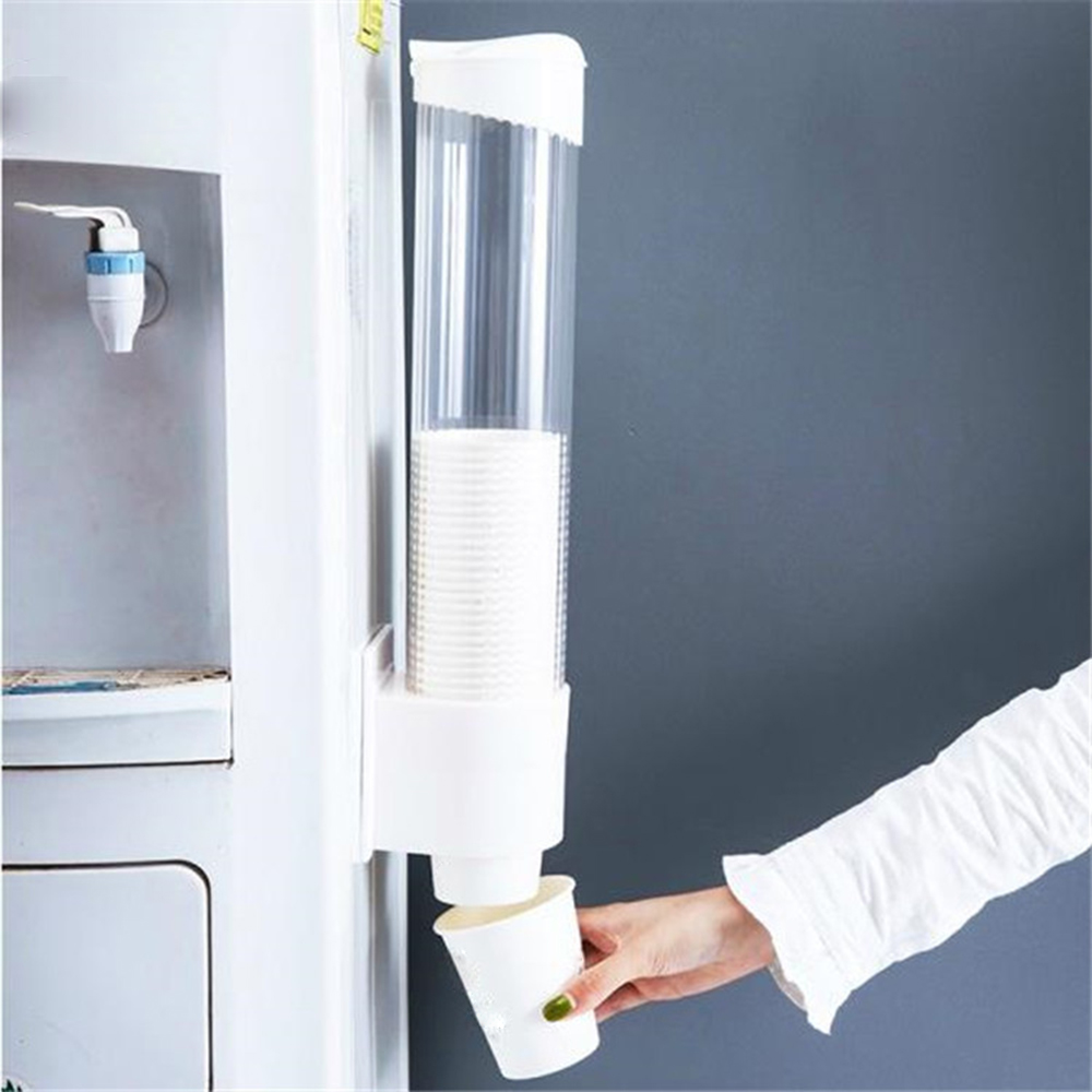 70Cups Plastic Paper Cup Holder Automatic Water Dispenser Cup Holder Disposable Paper Cup Rack Home Improvement