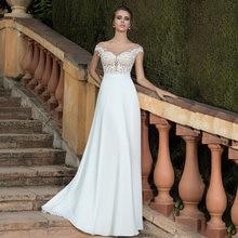 Шифоновое платье трапециевидной формы свадебные платья 2021
