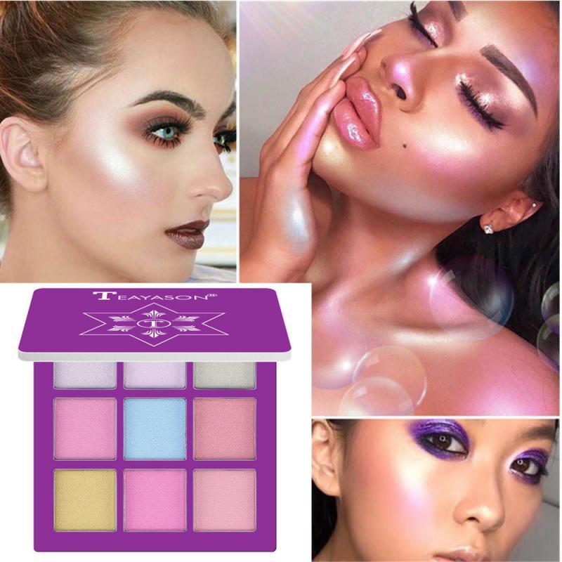 9 Colors Eyeshadow Palette Make Up Sets Natural Lasting Waterproof Eyeshadow Glitter Shimmer Pearly Eye Shadow Cosmetics TSLM1