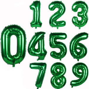 32inch Number Foil Balloons Helium Wild One Birthday Party Decorations Big Number Balloon Baby Shower Green Baloon Home Decor