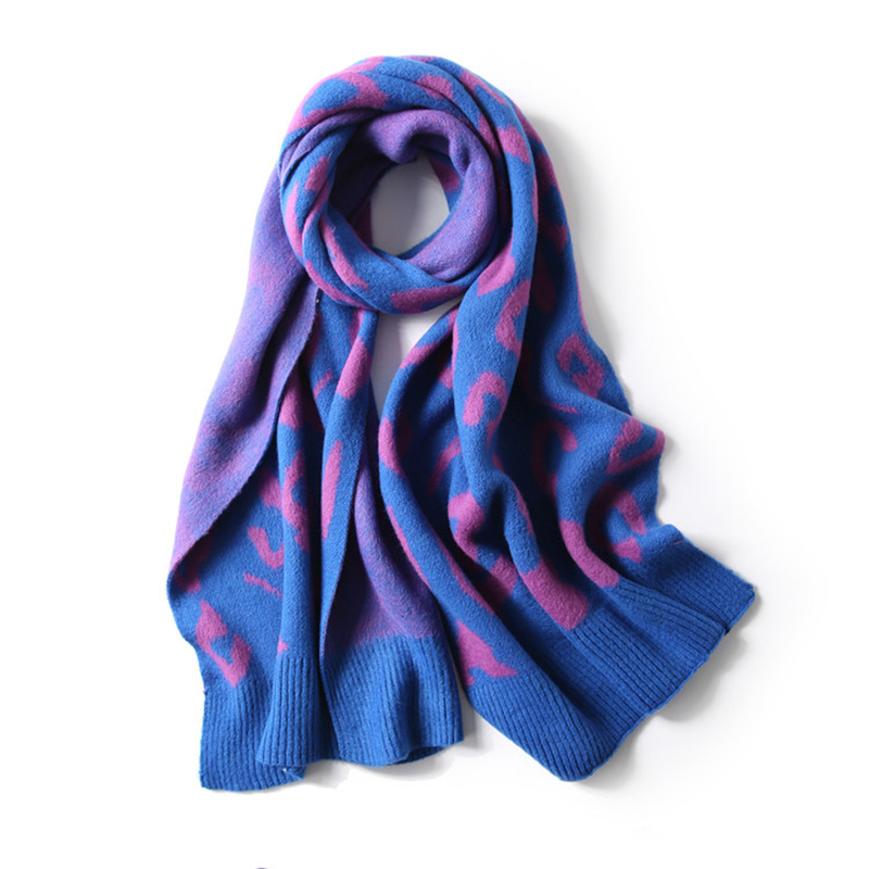 2019 New Leopard Printed Scarf Women Winter Blanket Scarf Warm Soft Cashmere Cold Weather Shawls Scarves For Women Bandana Stole