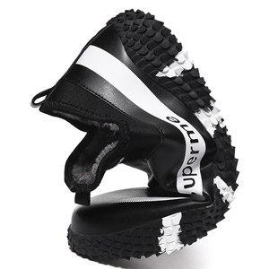 Image 3 - الرجال الشتاء الدافئة أفخم في الهواء الطلق أحذية رياضية موضة حذاء من الجلد مقاوم للماء أحذية رياضية عدم الانزلاق الرجال الشتاء جلد الثلوج الأحذية