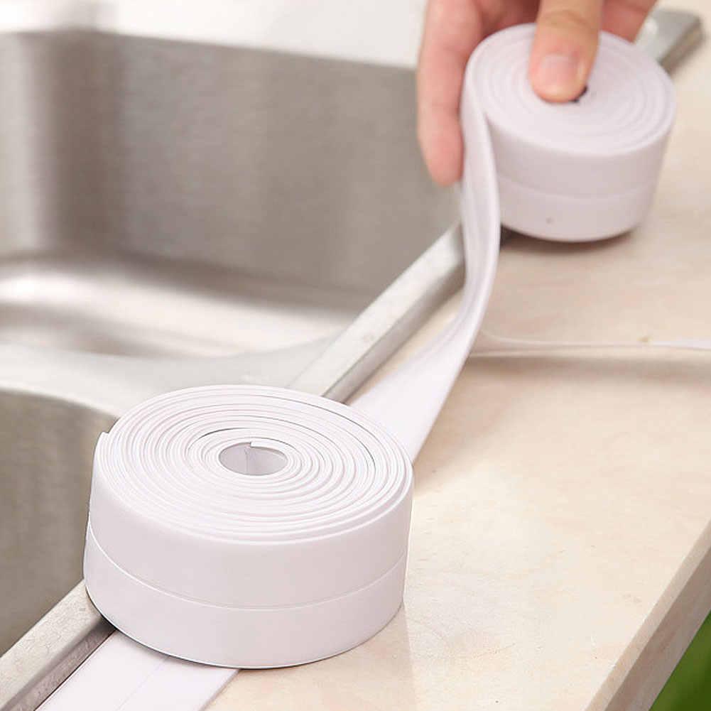 Nueva llegada 3,2 m PVC a prueba de agua a prueba de moho Auto adhesivo de la ventana de la tira de sellado