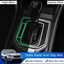 Qhcp Auto Gear Shift Anti Slip Mat Latex Gear Anti Slip Anti Slip Pad Voor Subaru Forester 2019 2020 2021 1Pcs Interieur Accessoires