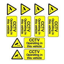 Cctv Operationele In Dit Voertuig Stickers Auto Taxi Uber Bus Van Truck Cab(China)