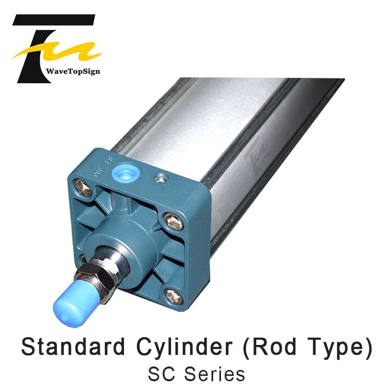Cylindre Standard WaveTopSign (Type de tige) série SC SC80-1200 composants pneumatiques 80mm alésage 1200mm course