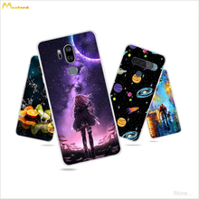 Cases For LG V30 Silicone For LG V40 V50 V60 ThinQ Soft TPU Phone Cover For LG Q70 Q60 V30 G7 G8 G8S ThinQ Color Printed Coque for lg v50 thinq 5g cases cover carbon fiber brushed soft silicone tpu protective phone back cover for lg v50 thinq q7 v40 g7 g6