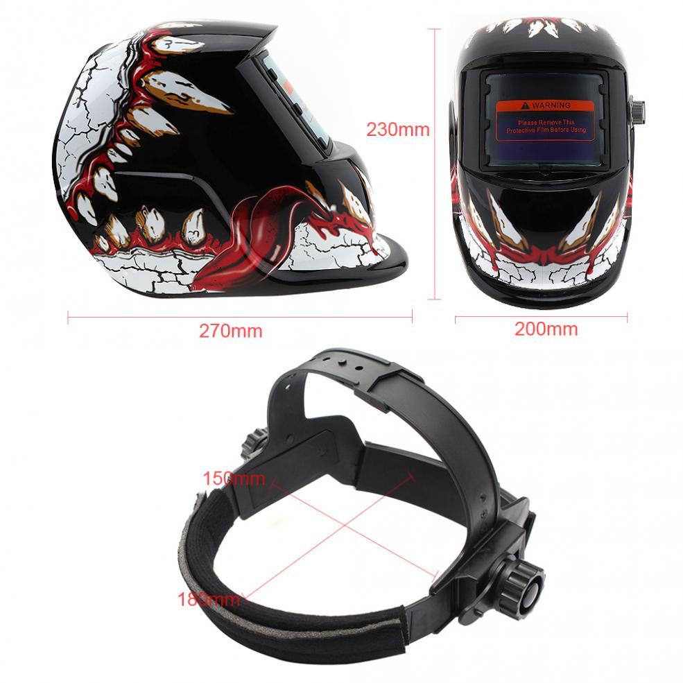 Nowe automatyczne przyciemnianie kask spawalniczy maska do spawania soczewki zasilana energią słoneczną czapka do lutowania MIG MMA spawanie elektryczne maska do spawania akcesoria do masek