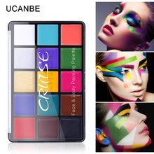 Ucanbe Cruise Halloween Makeup 15 Color Face Painting Palette Temporary Tattoo Body Paint Oil Base Creamy
