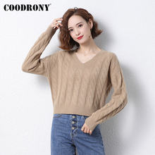 Женский Повседневный пуловер из 2020 шерсти с v образным вырезом
