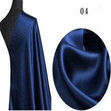 Одноцветный шелк Шармез Атласная Ткань шелковая атласная ткань для женщин вечернее платье пижамы, ткань